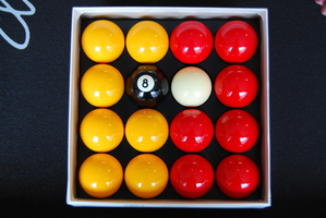 Red & Yellow Aramith Pool (Billiards) Balls
