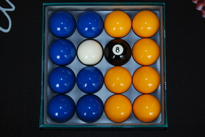 Blue & Yellow Aramith Pool (Billiards) Balls