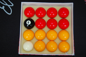 Standard Red & Yellow Pool (Billiards) Balls